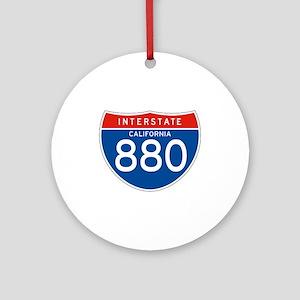 Interstate 880 - CA Ornament (Round)