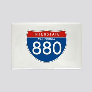 Interstate 880 - CA Rectangle Magnet