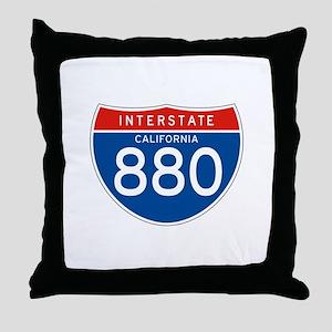 Interstate 880 - CA Throw Pillow