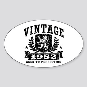 Vintage 1952 Sticker (Oval)