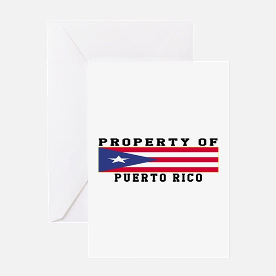 Property Of Puerto Rico Greeting Card