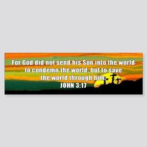 John 3:17 Bumper Sticker