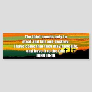 John 10:10 Bumper Sticker