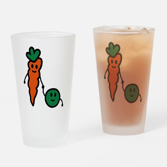 carrot_and_pea Drinking Glass
