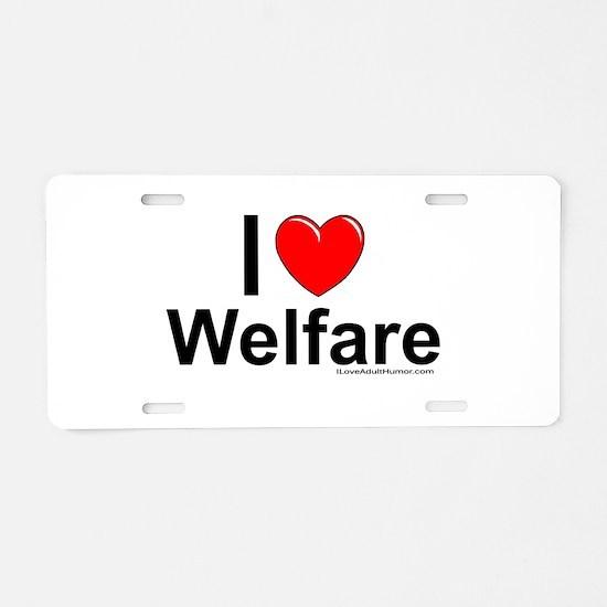 Welfare Aluminum License Plate