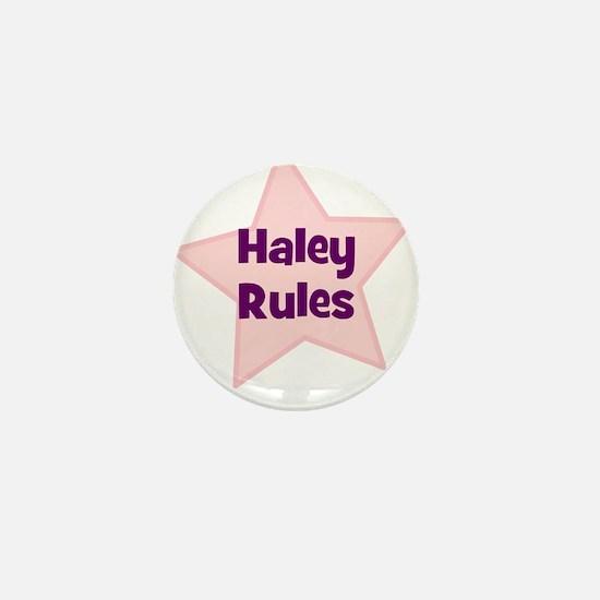 Haley Rules Mini Button
