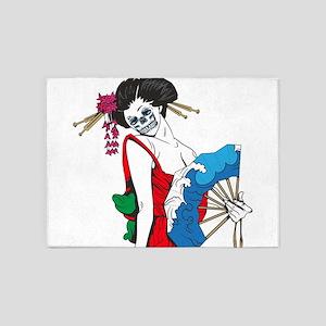 Zombie Geisha 5'x7'Area Rug