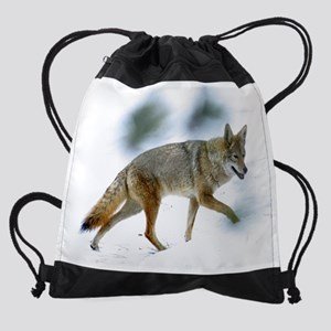 cp_coyote1 Drawstring Bag