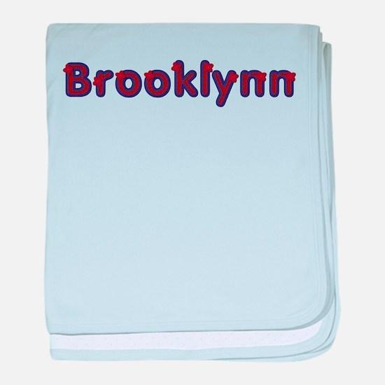 Brooklynn Red Caps baby blanket