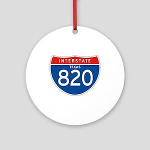 Interstate 820 - TX Ornament (Round)