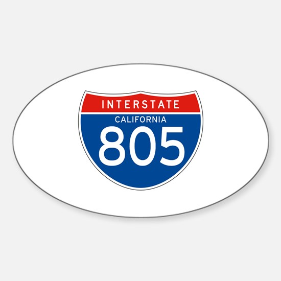 Interstate 805 - CA Oval Decal