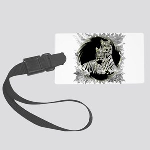 TWO WHITE TIGERS PORTRAIT Luggage Tag