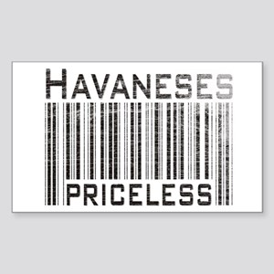 Havaneses Rectangle Sticker