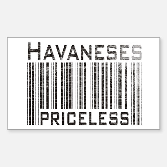 Havaneses Rectangle Decal