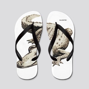 Alligator Gator Animal Flip Flops