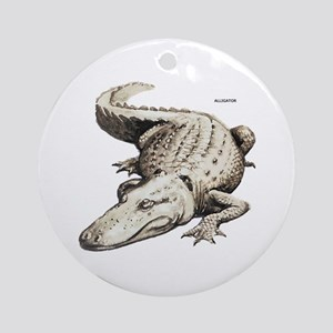 Alligator Gator Animal Ornament (Round)