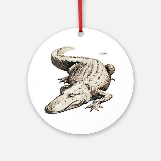 Alligator Gator Animal Ornament (Round)