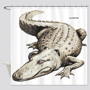 Alligator Gator Animal Shower Curtain