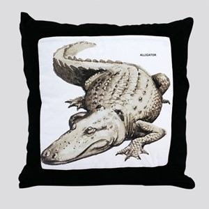 Alligator Gator Animal Throw Pillow