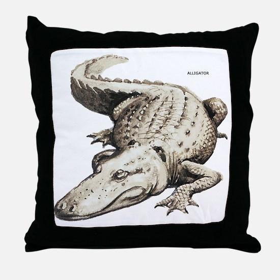 Alligator Gator Animal Throw Pillow