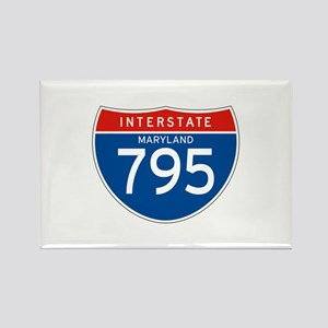 Interstate 795 - MD Rectangle Magnet