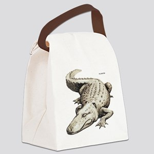 Alligator Gator Animal Canvas Lunch Bag