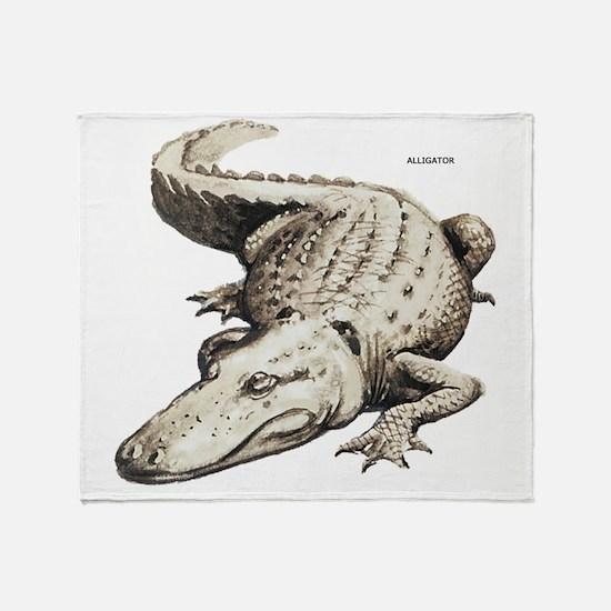 Alligator Gator Animal Throw Blanket