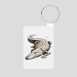 Alligator Gator Animal Aluminum Photo Keychain