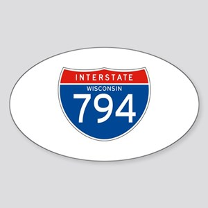 Interstate 794 - WI Oval Sticker