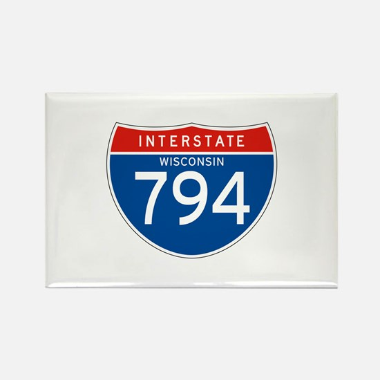 Interstate 794 - WI Rectangle Magnet