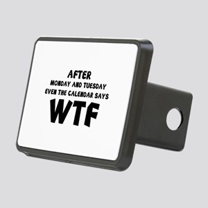 The Calendar Says WTF Rectangular Hitch Cover