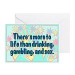 Drinking, Gambling, & Sex Greeting Cards (6/pkg)