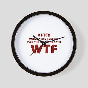 The Calendar Says WTF Wall Clock
