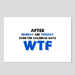 The Calendar Says WTF Postcards (Package of 8)