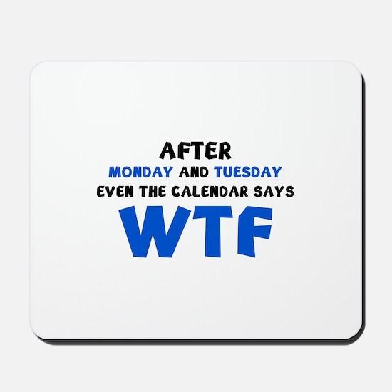 The Calendar Says WTF Mousepad