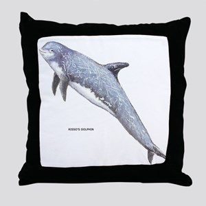 Rissos Dolphin Throw Pillow