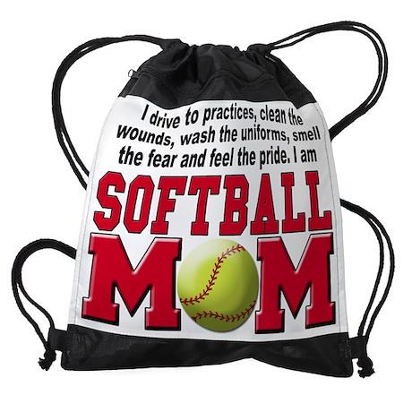 Softball Mom A Drawstring Bag