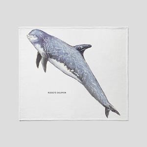 Rissos Dolphin Throw Blanket