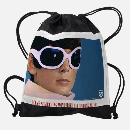 Audrey Hepburn Two for the Road Hea Drawstring Bag