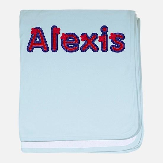 Alexis Red Caps baby blanket