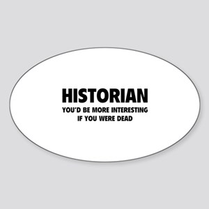 Historian Sticker (Oval)