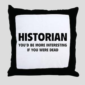 Historian Throw Pillow