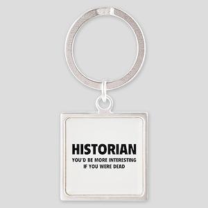 Historian Square Keychain