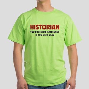 Historian Green T-Shirt