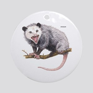 Opossum Possum Animal Ornament (Round)