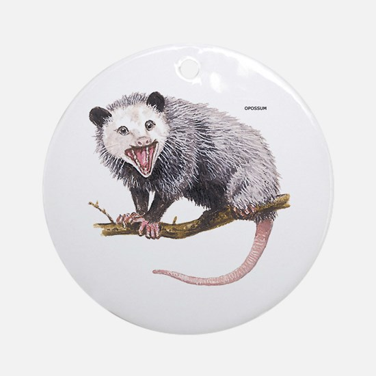 Opossum Possum Animal Ornament (Round)