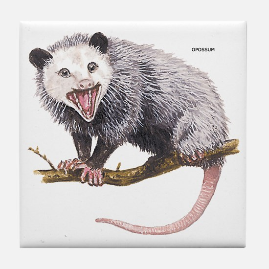 Opossum Possum Animal Tile Coaster