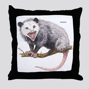 Opossum Possum Animal Throw Pillow