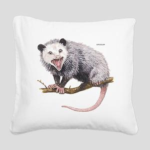 Opossum Possum Animal Square Canvas Pillow