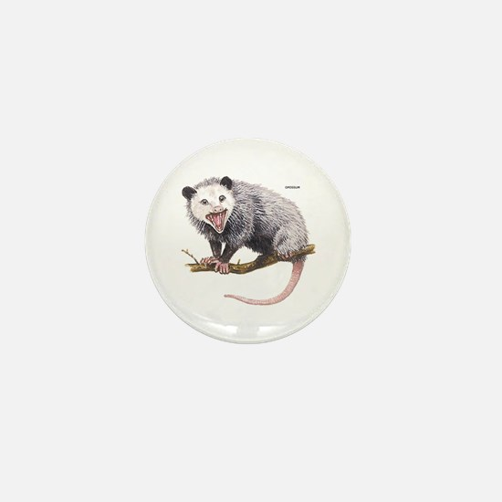 Opossum Possum Animal Mini Button